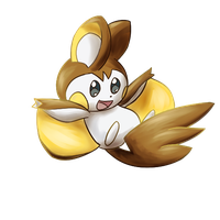 PokeCollab: Shiny Emolga by LizDoodlez