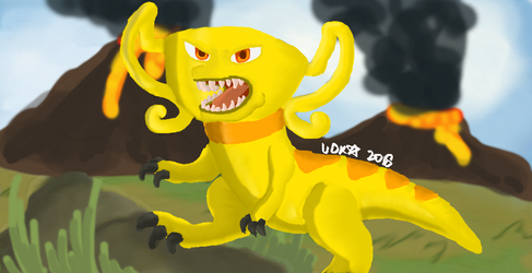 Trophy The T-Rex by OrigamialStar101