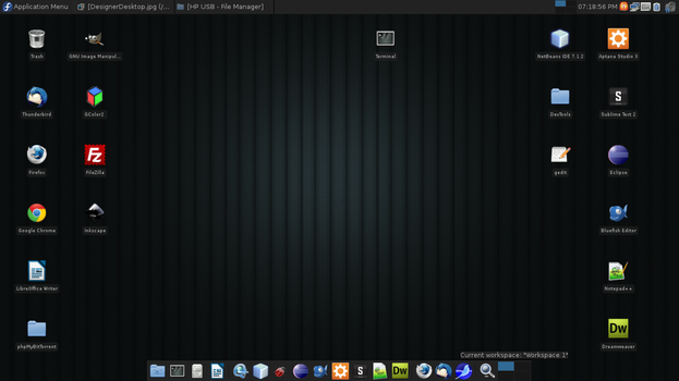Fedora 16 Desktop by CDevelop