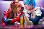 Evangelion Shoot - Asuka and Rei by EnvisageU