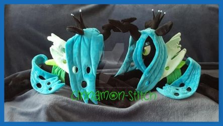 mlp plushie commission Queen Chrysalis x2 by CINNAMON-STITCH