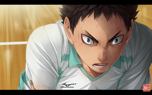 Haikyuu!! - screenshot redraw - Iwaizumi by zero0810