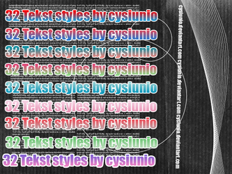 32 Tekst styles by Cysiunio