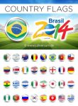 FIFA World Cup 2014 Brazil Country Flags PNGs by Julliversum