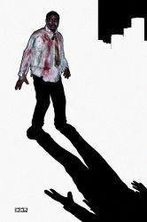 Zombie Shimon in the Big City by Crigger