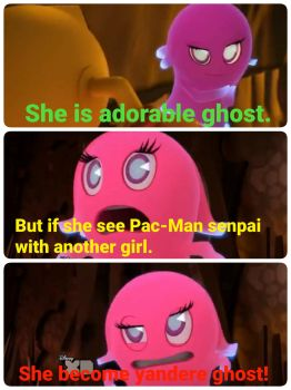 Pinky is first Yandere ghost. by Ilovesonicandfriend