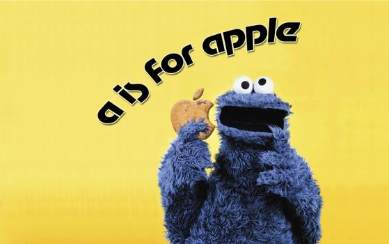 A is For Apple Choco Cookie by caos