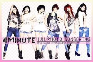 [PNG Pack] 4Minute HUH #2 by hyunasia