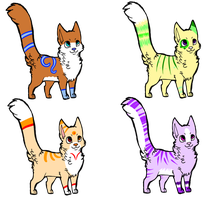 more adoptables by Dawnkitty