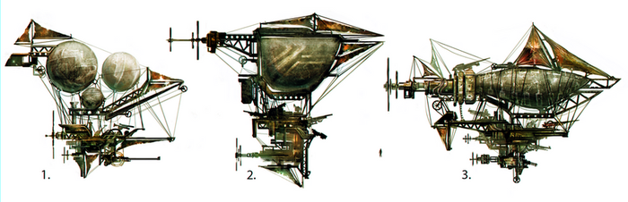 Airship Type Variations by musegames