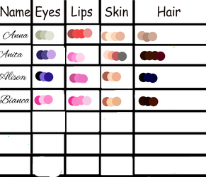 OC Palettes Part 1 by RebelWinxGirl