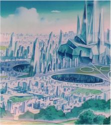 Crystal Tokyo and Crystal Palace Complex (1992 Ani by Moon-Shadow-1985