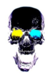 Skull in Purple by SauronTheMagnificant