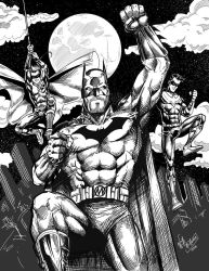 Batman Robin and Nightwing by WillNoName
