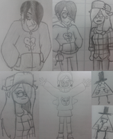 Gravity Falls sketches by thalle-my-honey