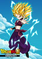 CAULIFLA SSJ 2 - DRAGON BALL SUPER by tech531