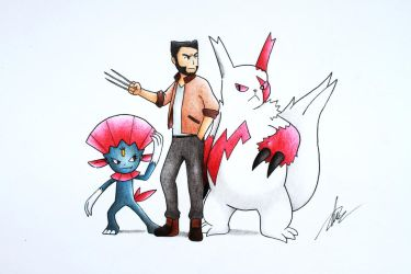 Marvel x Pokemon (Wolverine) by goldprovip