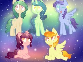 Cosmic Ponies batch - (CLOSED) by adoptchick