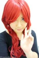 Long red wig test by CosplayAnimal