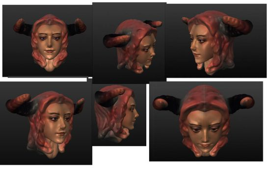 3Dhead DemonGirl v2 by ManiacPaint