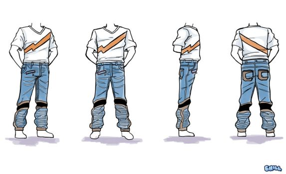 Men's Fashion Jean's and T-shirt by PCHILL