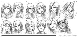 12 Drawings by Auzzymo