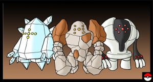 Regirock, Regice and Registeel