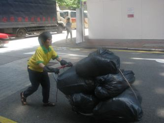 Everyday Life in HK - Trash Collector by RobbieMelrose