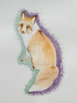 Watercolor Fox Adoptable CLOSED by galianogangster