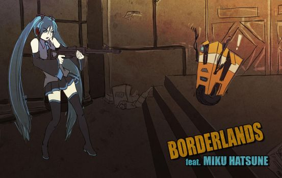 MIKU x BORDERLANDS by toshiyanemura
