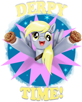 Derpy Time by PlatinumPegasister