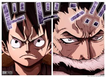 Luffy vs Katakuri by DEIVISCC