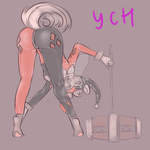 Your char. cosplaying classic Harley Quinn {YCH} by mdwines