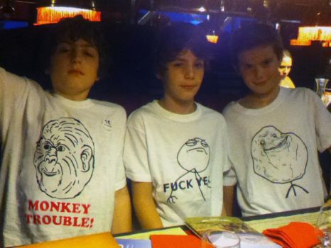 Le Monkey Trouble T-Shirt (for kids!) by rware