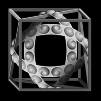 Cube with Magic Ribbons by eriban