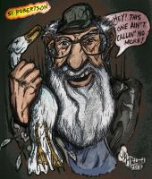 Color version of Duck Dynasty's Si by jdmacleod