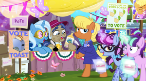 Voting Day at the Ponyville Polls by PixelKitties