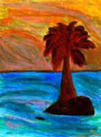 Palm Trees And The Ocean by SlimStephen