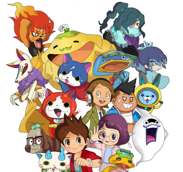 Yo-kai Watch 3 New Season Nath and Ariane Inaho HD by Amanomoon