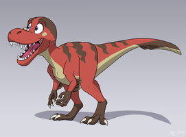 Commission: Moco the Dino by MightyRaptor
