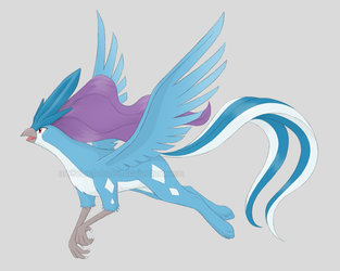 Legendary Griffons - Suicuno by ShadOBabe