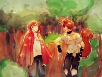 Red and Wolf by KAlTOV3