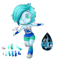 Request 3: Gemsona-Blue topaz by DP-CKC