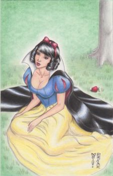 Snow White Original Art by DenaeFrazierStudios