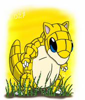027 Sandshrew by twitchSKETCH