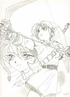 Link and Saria by Tripower