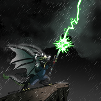 Glaurung the Lightning Channeler by raizy