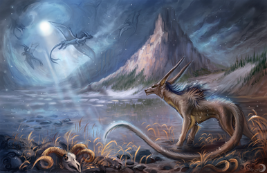 The valley of ice dragons by FlashW