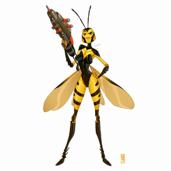 Wasp by CamaraSketch