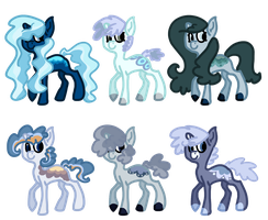 Snow and Ice Themed Unicorn Adoptables CLOSED by MadMeerkat316